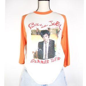 Vintage '80 Billy Joel Tour Baseball Band T-Shirt